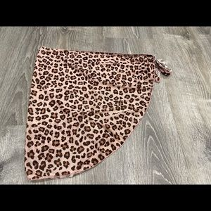 Swimsuit Coverup Cheetah Wrap